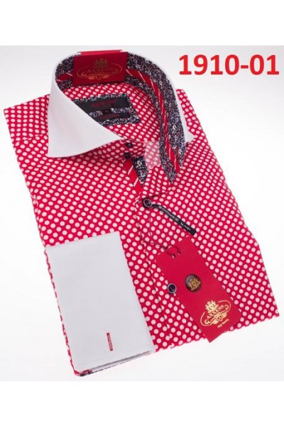 Men's Fashion Shirt by AXXESS - Red / Dot