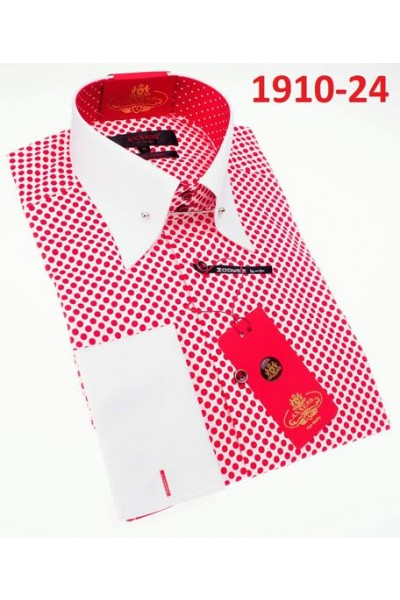 Men's Fashion Shirt by AXXESS - Red Dots