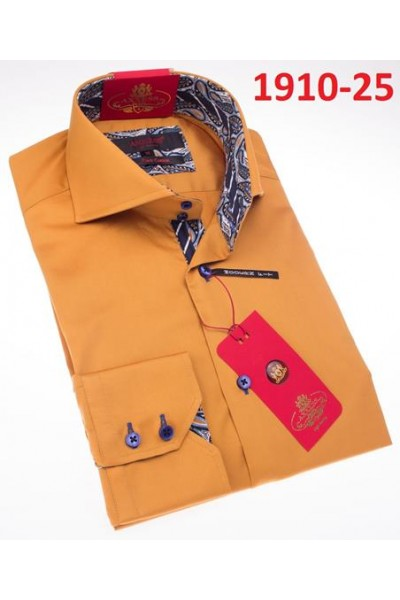 Men's Fashion Shirt by AXXESS - Pumpkin