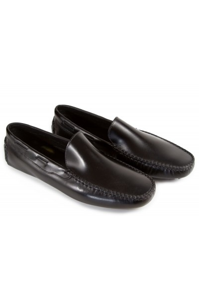 Giovanni Marquez Men's Shoes - Italian Loafer Driver Style - Black