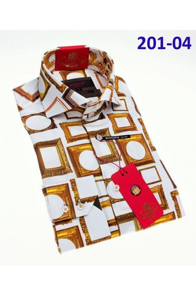 Men's Fashion Shirt by AXXESS - Gold Frames