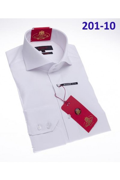 Men's Fashion Shirt by AXXESS - White / Cutaway Collar