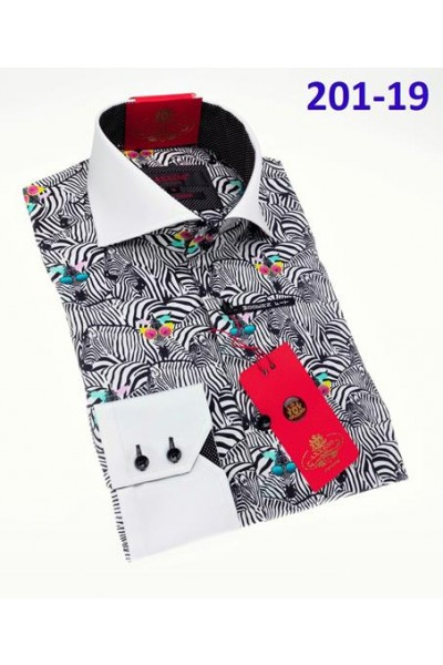 Men's Fashion Shirt by AXXESS - Zebras