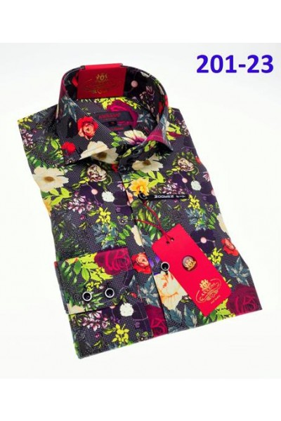 Men's Fashion Shirt by AXXESS - Green Floral