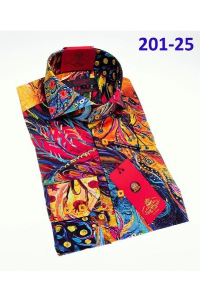 Men's Fashion Shirt by AXXESS - Artistic / Multi