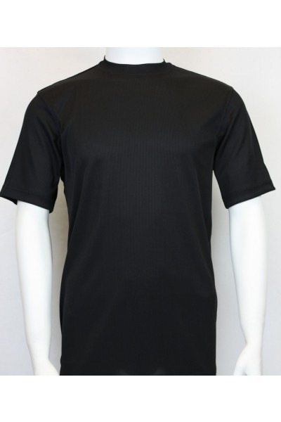 Bassiri S/S Mens Knit Microfiber T-Shirt - Black