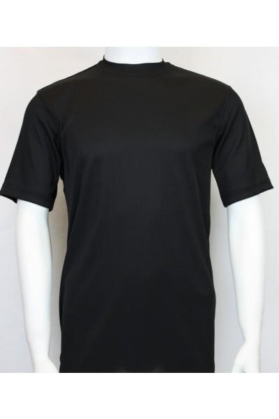 Bassiri S/S Mens Knit Microfiber T-Shirt - Black