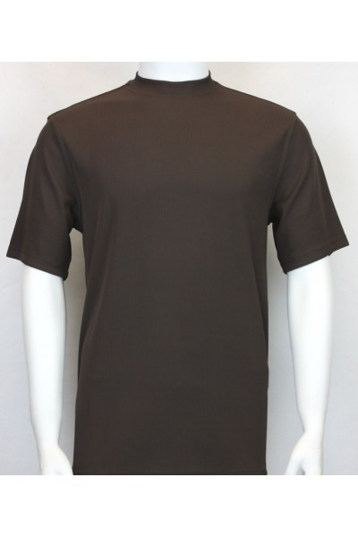 Bassiri S/S Mens Knit Microfiber T-Shirt - Brown