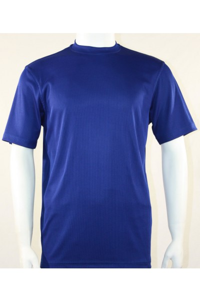 Bassiri S/S Mens Knit Microfiber T-Shirt Midnight Blue