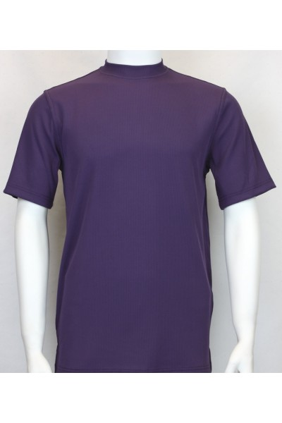 Bassiri S/S Mens Knit Microfiber T-Shirt - Purple