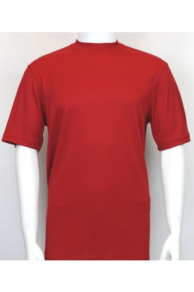 Bassiri S/S Mens Knit Microfiber T-Shirt - Red