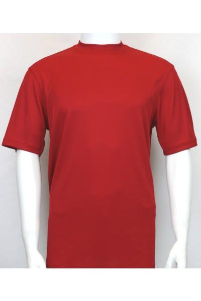 Bassiri S/S Mens Knit Microfiber T-Shirt - Red