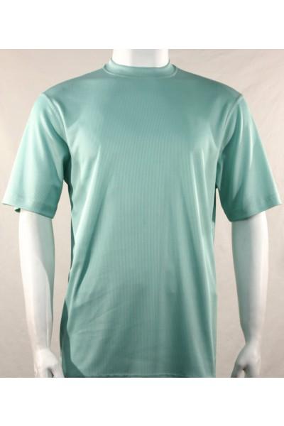 Bassiri S/S Mens Knit Microfiber T-Shirt Sea Green