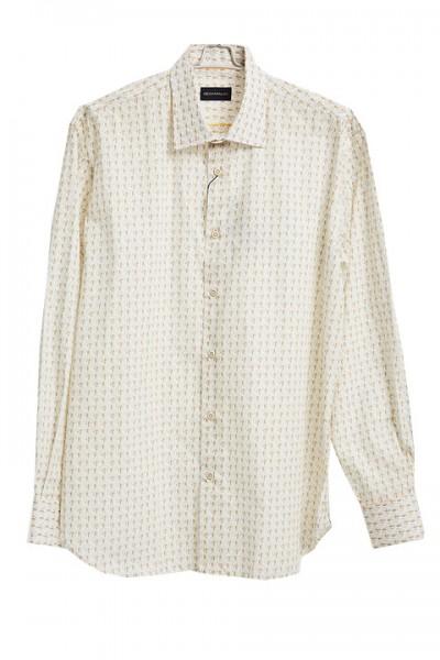 Men's Fashion Shirt by Gem Malki - Mini Pattern - Off White a