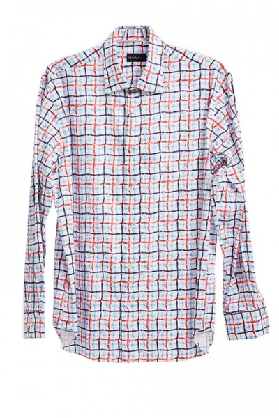Men's Fashion Shirt by Gem Malki - Multi Check a