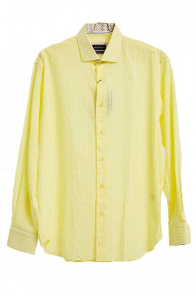 Men's Fashion Shirt by Gem Malki - Shadow Stripe Yellow a