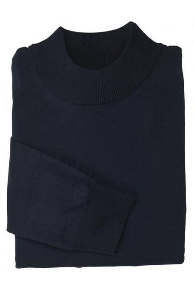 Men's L/S Knit by Inserch / Merc - Mock Neck / Navy