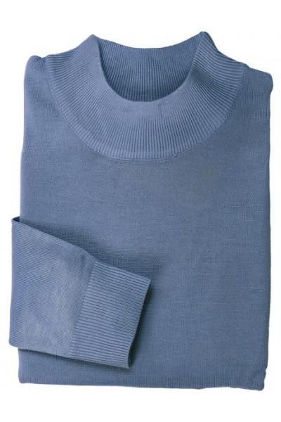 Men's L/S Knit by Inserch / Merc - Mock Neck / China Blue