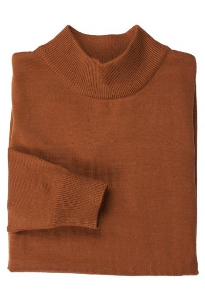 Men's L/S Knit by Inserch / Merc - Mock Neck / Rust
