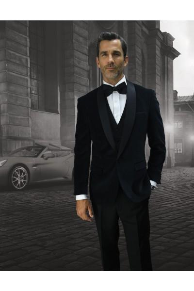 Men's Suit - Modern Fit - Black Velvet