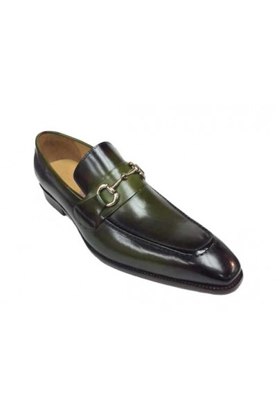 carrucci shoes, mens leather green shoes, mens leather shoes, dress shoes