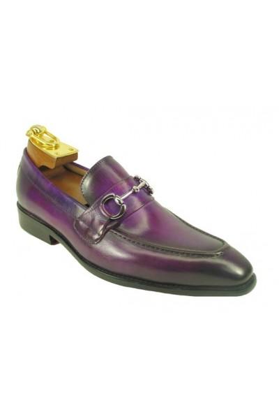 carrucci shoes, mens leather purple shoes, mens leather shoes, dress shoes