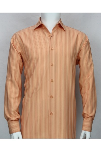 Bassiri L/S Button Down Men's Shirt - Coral Shadow Stripe