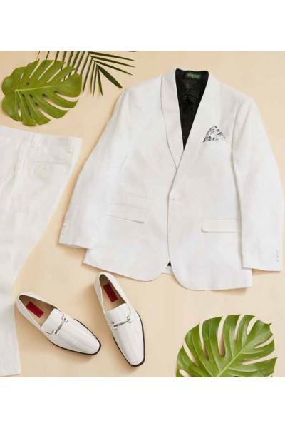 Men's Linen Blazer by Inserch / Merc - White a