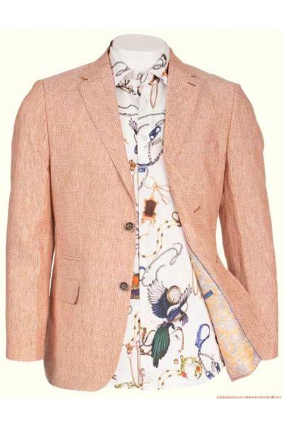 Men's Linen Blazer by Inserch / Merc - Rust a