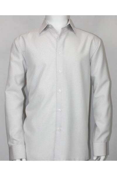 Bassiri L/S Button Down Men's Shirt - White Texture