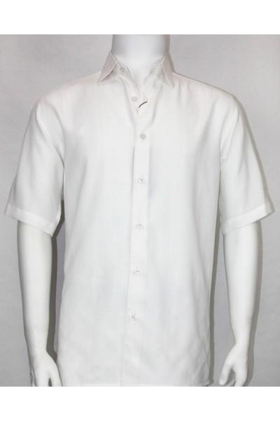 Bassiri S/S Button Down Men's Shirt - White