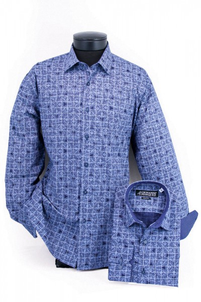 Giovanni Marquez Men's European Shirt - Blue / Spray Pattern a