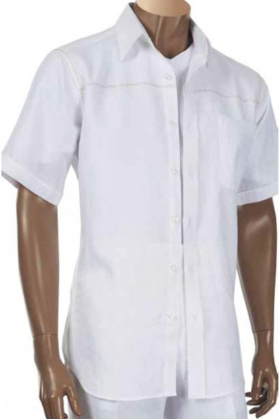 Men's 100% Linen S/S Shirt by Inserch / Merc - White