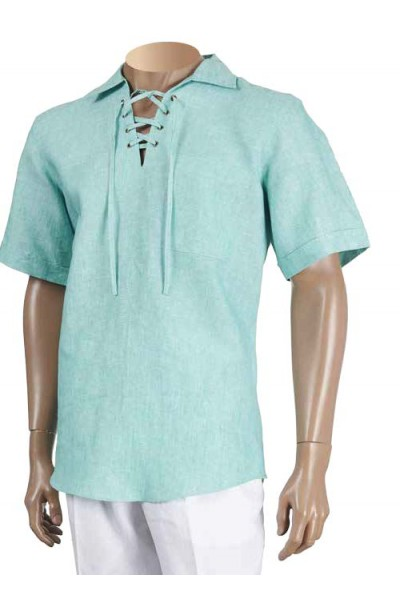 Men's 100% Linen S/S Shirt by Inserch / Merc - Jade
