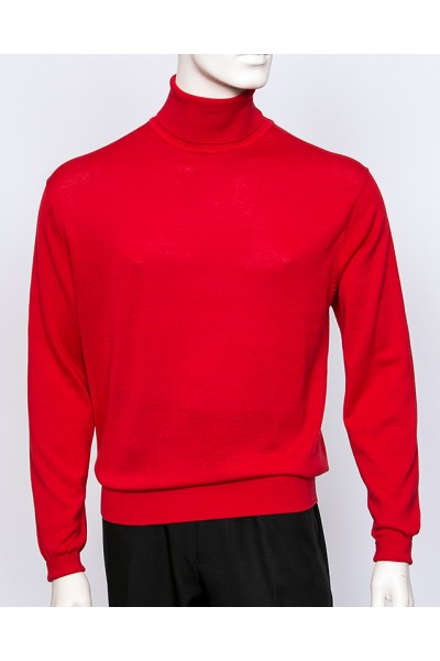 Men's Silk/Cotton Blend Turtleneck by Tulliano - 16 Colors a