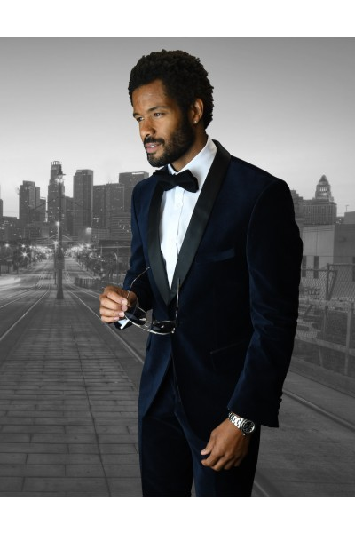 Men's Suit - Modern Fit - Navy Velvet