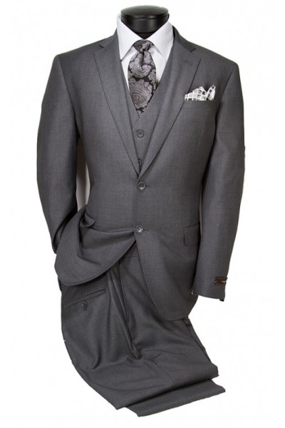 Vitarelli Mens Suit Medium Gray