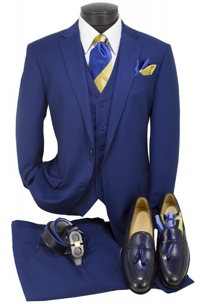 Vitarelli Mens Suit Royal Blue