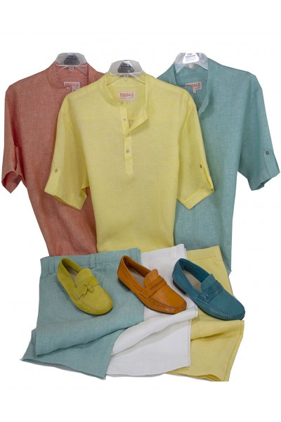 100% Linen A Complete Look for the FSB Man! Hook-Up #374 Shirts  / Matching Linen Shorts by InSerch a