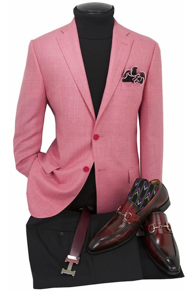 Men's Blazer by Tiglio Luxe - Firenze Coral