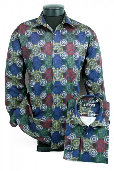 Giovanni Marquez Men's European Shirt - Multi / Disc Pattern a