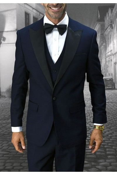 Men's Tux - Tailored Fit - Alberto Navy