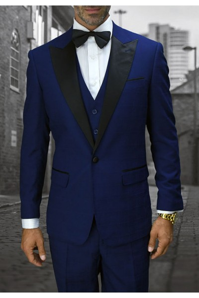 Men's Tux - Tailored Fit - Alberto Sapphire a