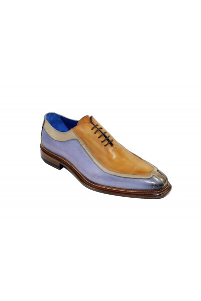 Men's Shoes by Emilio Franco - Tri Tone / Light Blue