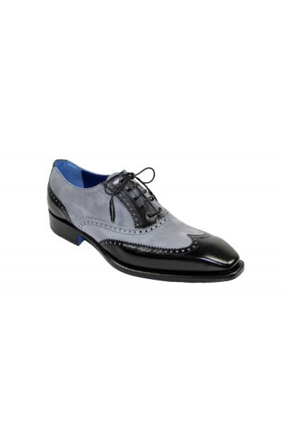 Men's Shoes by Emilio Franco - Black/Grey