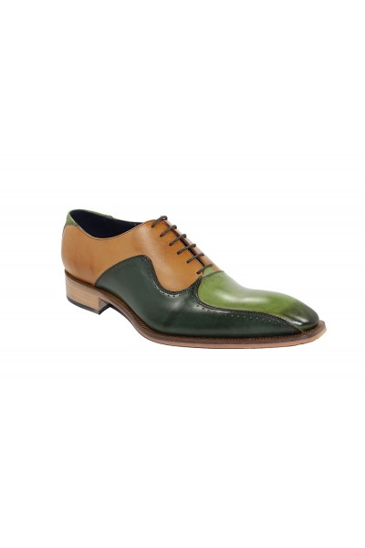 Duca by Matiste Men's Shoes - Made in Italy - Arezzo Green Combo