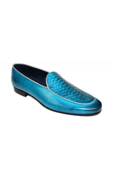 Duca by Matiste Men's Shoes - Made in Italy - Artena Turquoise