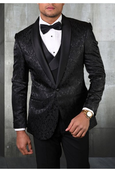 Men's Tux - Tailored Fit - Bellagio-14 Black a