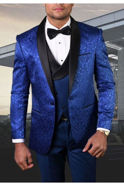 Men's Tux - Tailored Fit - Bellagio-14 Sapphire a