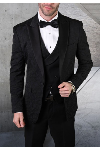 Men's Tux - Tailored Fit - Bellagio-15 Black a